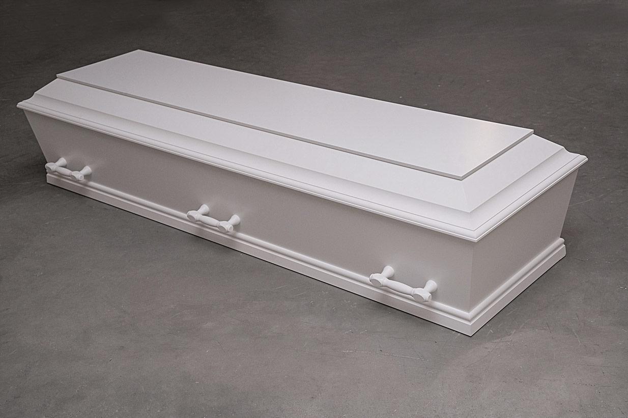 Enkel hvid kiste (model B)